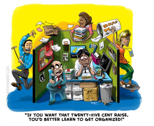 Get Organized Office Cubicle Cartoon Cartoon