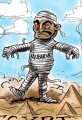 Egypt Crisis Cartoon President Mubarak Scares Egyptians