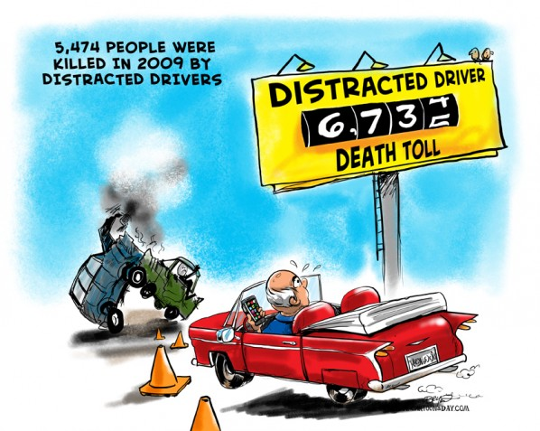 Distracted Driver Death Toll 2011