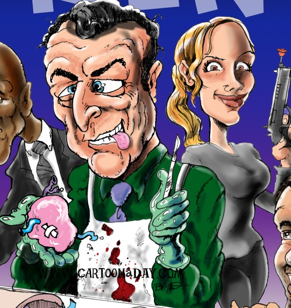 Tvs Fringe Cast Caricature Cartoon