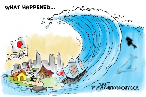 Japan Tsunami Cartoon and Worse Things