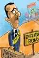 Syrian President Al Assad Must Choose Cartoon