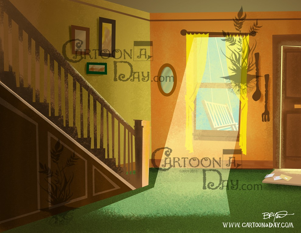 Cartoon Home Interior Sunbeam Cartoon
