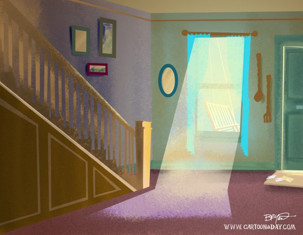 Cartoon Home Interior Sunbeam