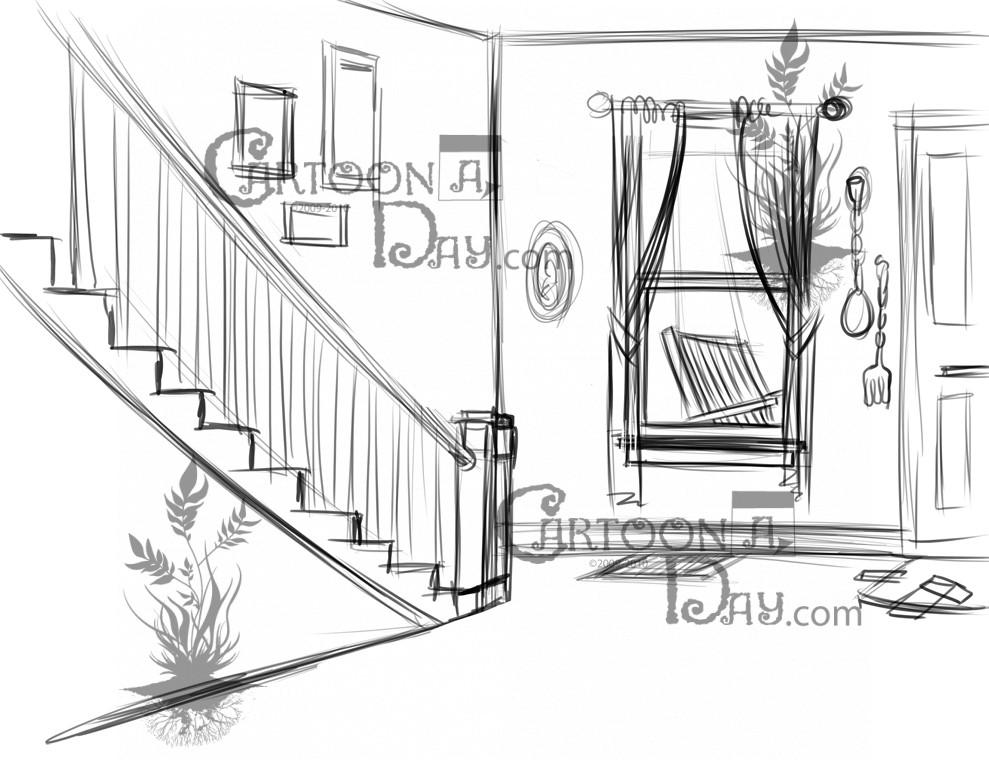 Cartoon Home Interior Sunbeam Cartoon