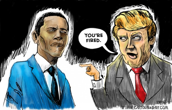 Trump runs for president fires obama cartoon trump runs for president fires obama sciox Image collections