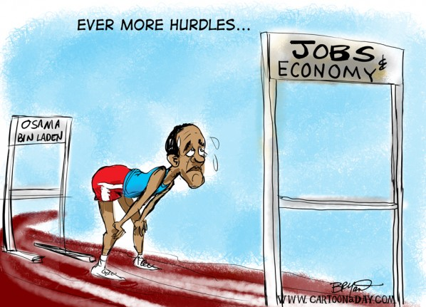 Osama   Obama Hurdles the Issues