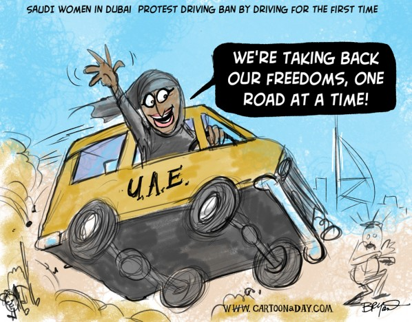 Saudi-women-drive-cars-in-protest