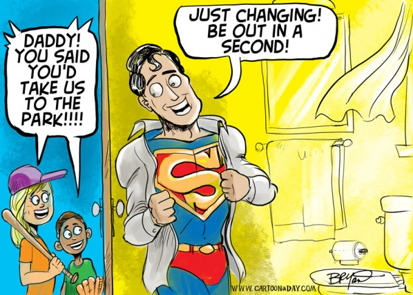Happy Fathers Day Cartoon Superman