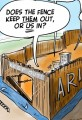 Arizona to Build Border Fence - Cartoon