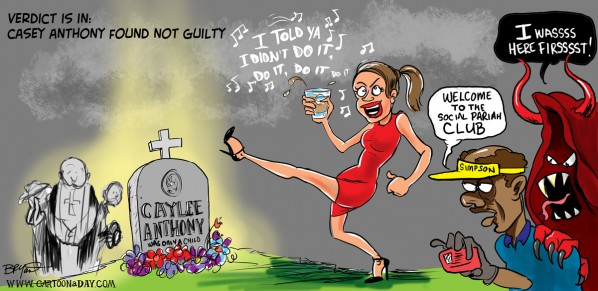 Casey Anthony Not Guilty Cartoon