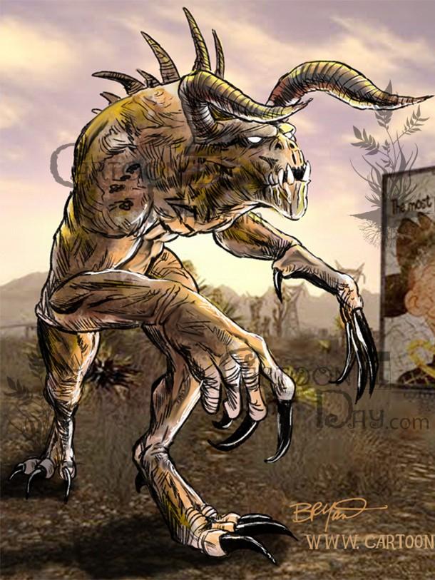 Fallout New Vegas Deathclaw Wallpaper Cartoon Cartoon