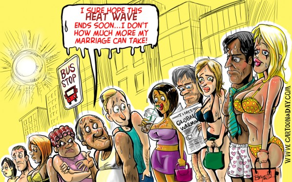 Summer Heat Wave Sets Record Highs  Cartoon