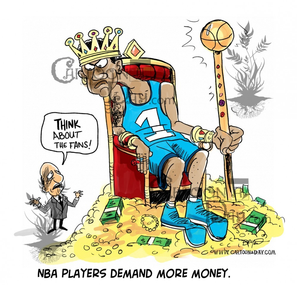 Nba Lockout Players Want More Money Cartoon