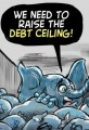 Raising Debt Ceiling and High Gov't Spending Cartoon