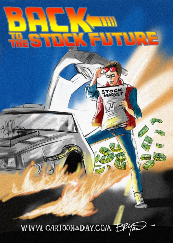 Back to the Future  Stock Market Style Cartoon