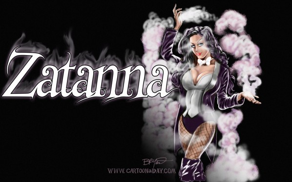 Zatanna   Sexy Mistress of Magic Superhero Cartoon Wallpaper