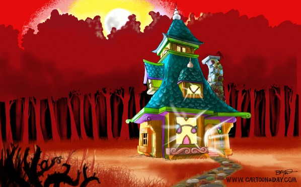 fantasy house illustration-red-desktop