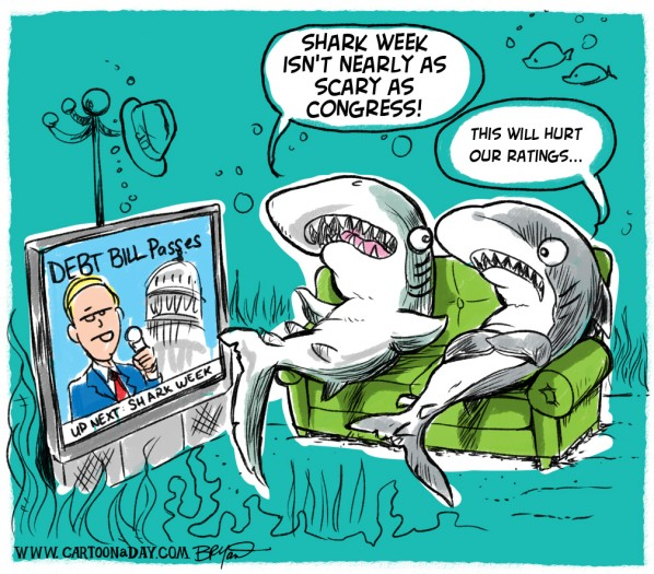 Shark Week Begins amid Debt Ceiling Bill Passage
