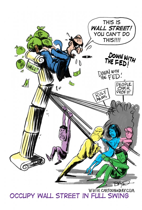 Occupy Wall Street, Occupy America Revolution Cartoon