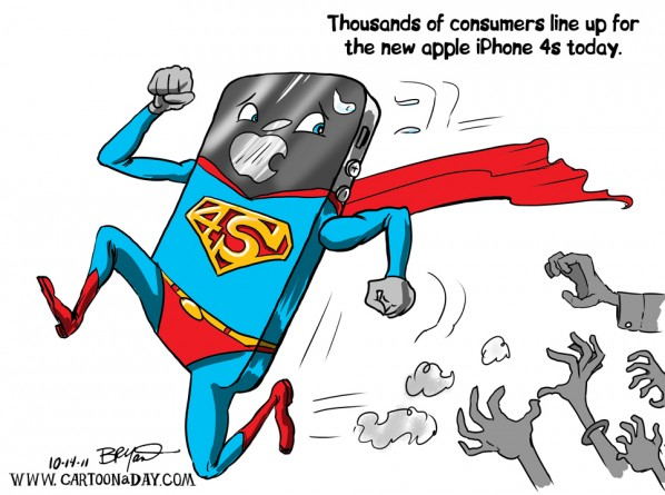 iPhone 4s Takes off Today   New Iphone 4 Cartoon