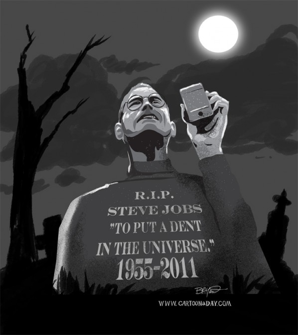 Steve Jobs Dies Age 56 Cartoon