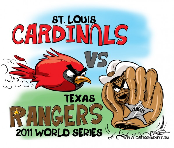 World Series 2011 Baseball Cartoon