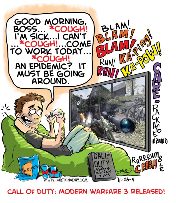Call of Duty 3 Hits Stores and Homes  Modern Warfare Cartoon