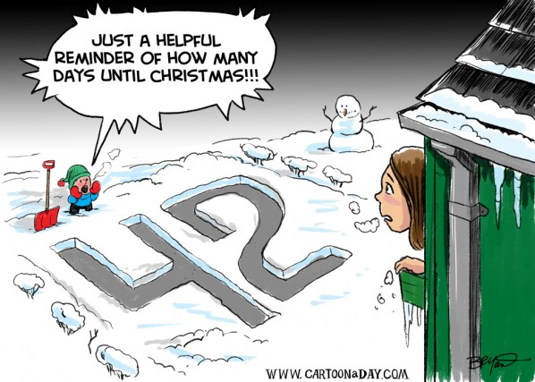 days left until christmas cartoon