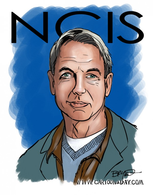 mark-harmon-ncis-caricature-cartoon