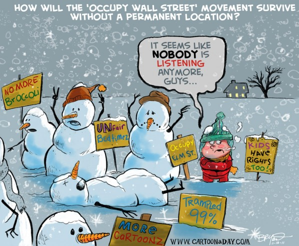 Occupy Wall Street Cartoon Has No Home