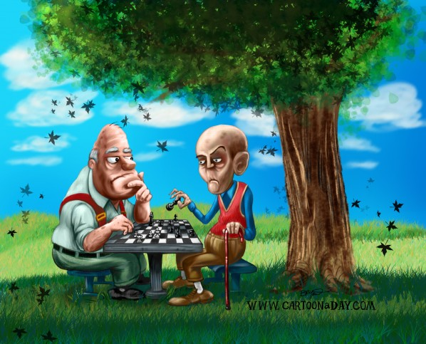 chess-in-the-park-cartoon-day