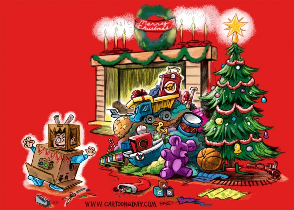Christmas Day Toys and Kids Cartoon