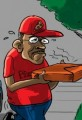 Herman Cain Quits Presidential Race-Cartoon Pizza Delivery