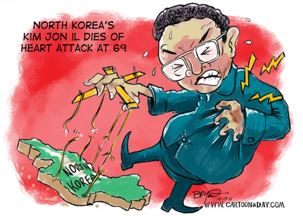 North Koreas Kim Jong Il Dies at 69 Cartoon