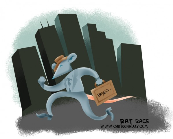 Lifes Rat Race Cartoon