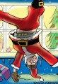 Santa Fell Off the Roof Cartoon