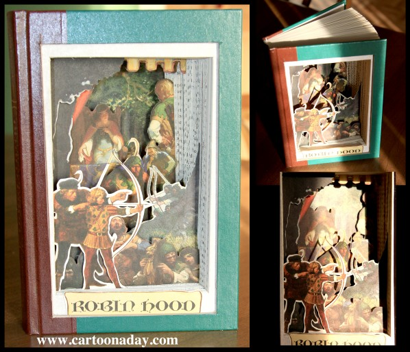 3D Book Sculpture Visible Novel