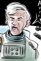 Cartoon Newt Gingrich and the Moon