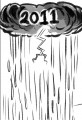 New Year Grey Cloud 2012 Cartoon