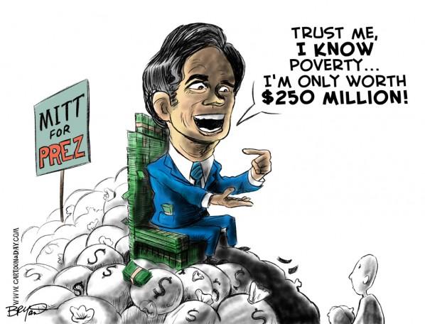 cartoons on romney