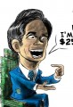 Cartoon Mitt Romney Discloses Wealth