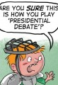 Cartoon Kids Play Presidential Debate Game