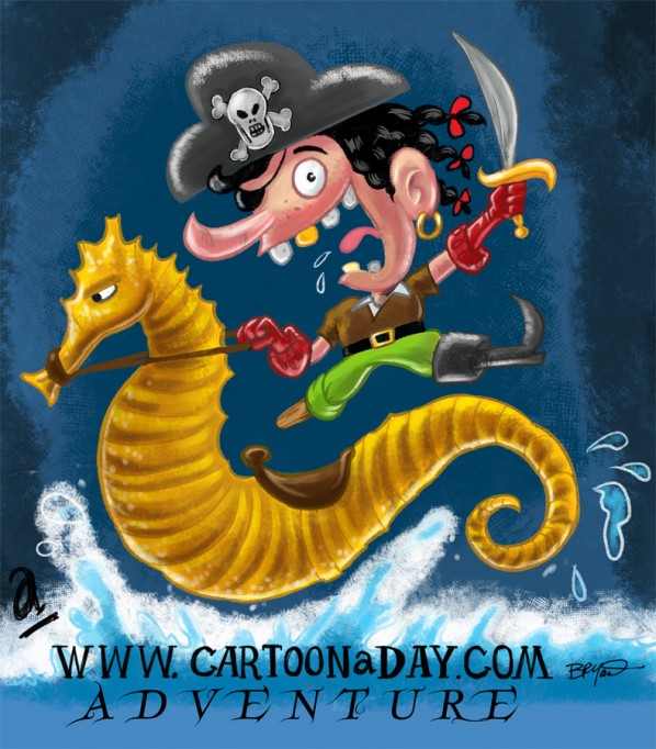 Childrens Book Illustrator  Pirate Adventures