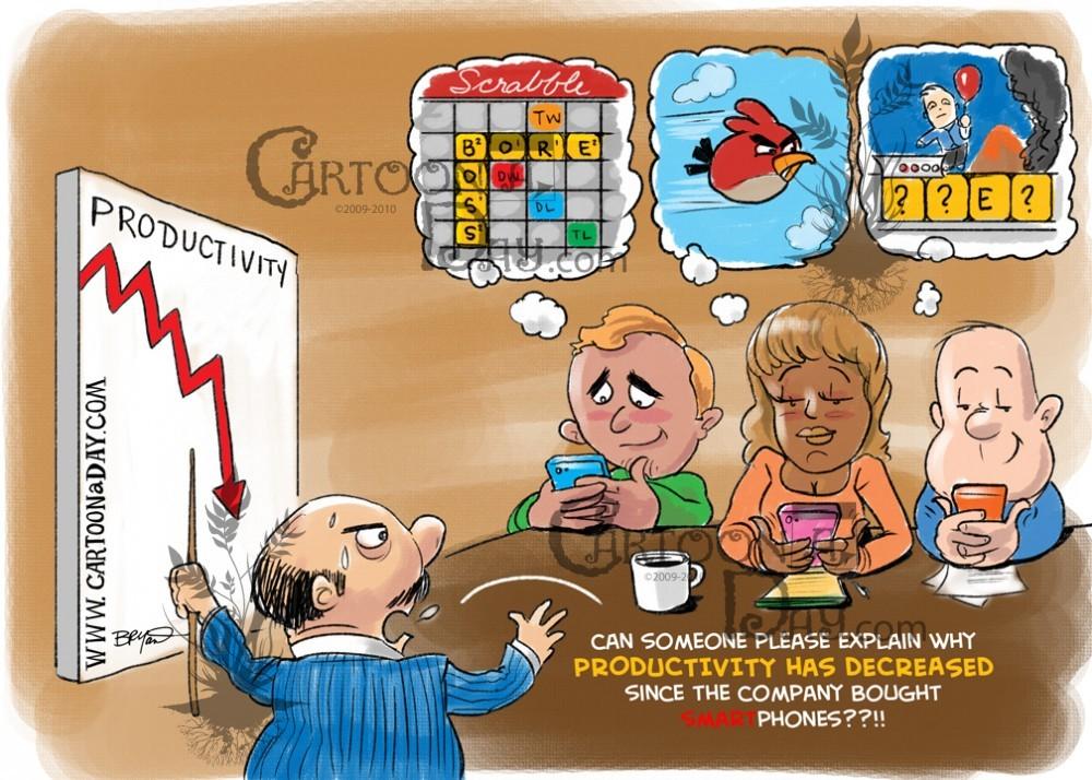 Productivity cartoon