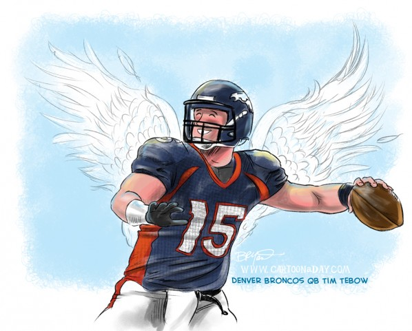tim tebow cartoon-time tebow illustration