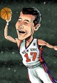 Cartoon Jeremy Lin Basketball's Rising Star