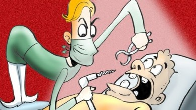 scary dentist Tagged Cartoons