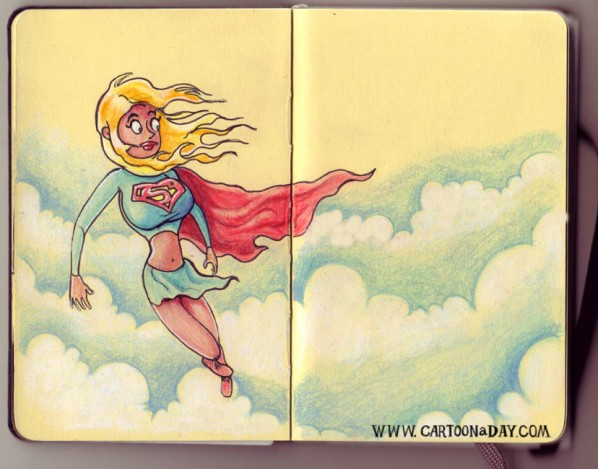 sketchbook-landscape-supergirl