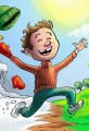 Spring Has Sprung- Cartoon Kid Jumps for Joy
